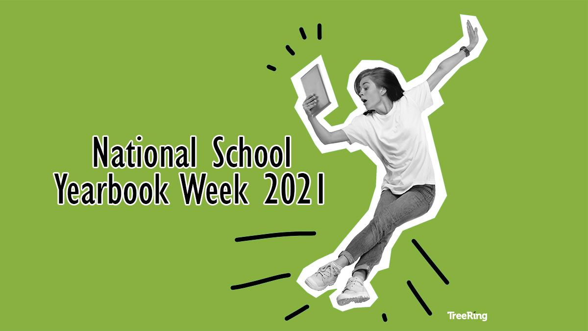 Student celebrates National School Yearbook Week