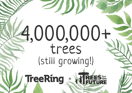 Over 4 million trees planted