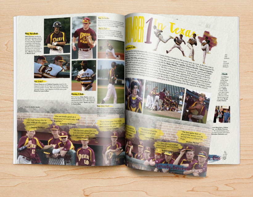yearbook design ideas for sports pages